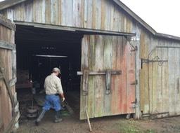 The main barn door still needs repair and new hinges. Next repair task. & NuNu Barn door repair | Louisiana Metalsmiths Association | Lama ...